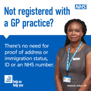 People with no ID can register with a GP